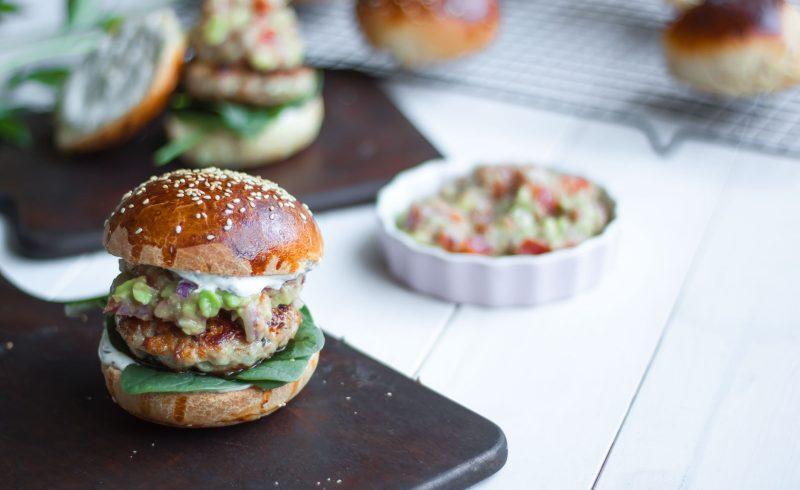 Meksykańskie Fit Burgery z Indykiem i Guacamole