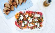 Sałatka z Marynowanymi Pomidorami i Burratą
