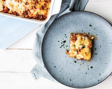Bezglutenowa Lasagne z Wołowiną, Bakłażanem i Cukinią