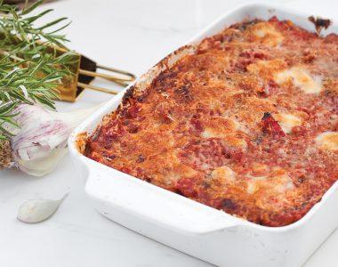 Prawdziwa Włoska Parmigiana czyli wegetariańska zapiekanka z bakłażana z parmezanem i mozzarellą