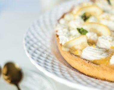 Krucha tarta cytrynowa z lemon curd i kremem mascarpone