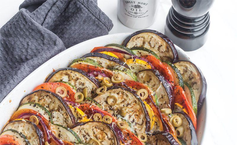 tian czyli warzywna zapiekanka z mozzarella