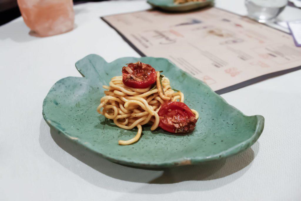 Spaghetti cytrynowe z masłem z homara, Restaurant Week, Mare e Monti, Łódź