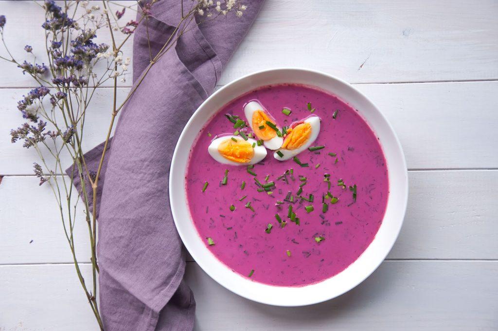 Chłodnik z botwinki - zupa krem