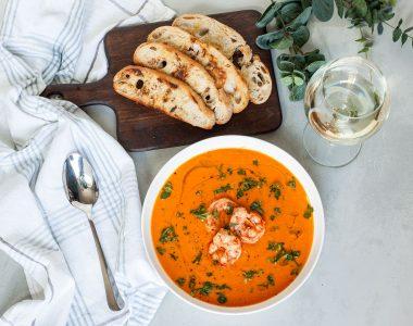 Bisque z Krewetek czyli Francuska, kremowa zupa z owoców morza