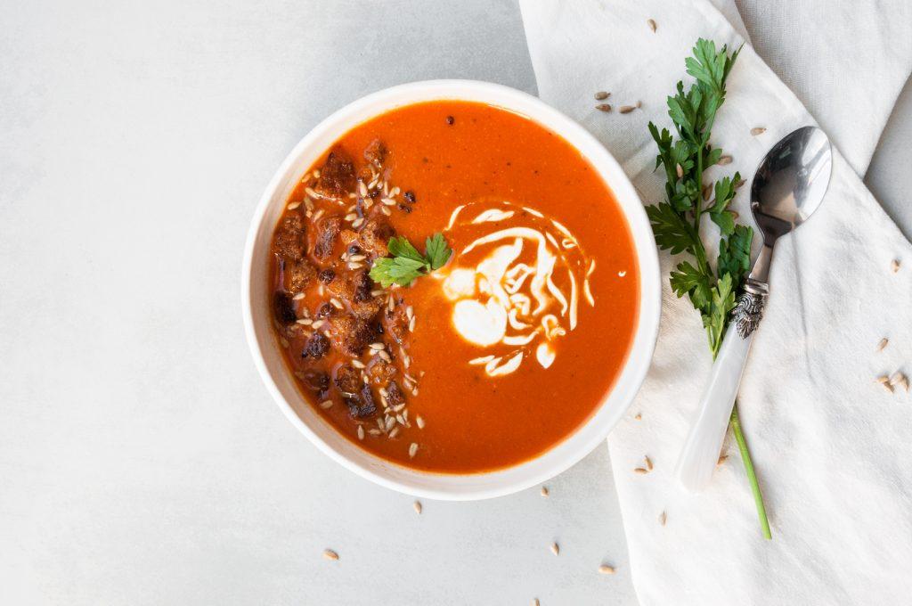 Zupa Krem z Pieczonych, czerwonych warzyw