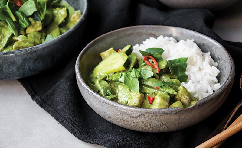 tajskie zielony curry z kurczakiem
