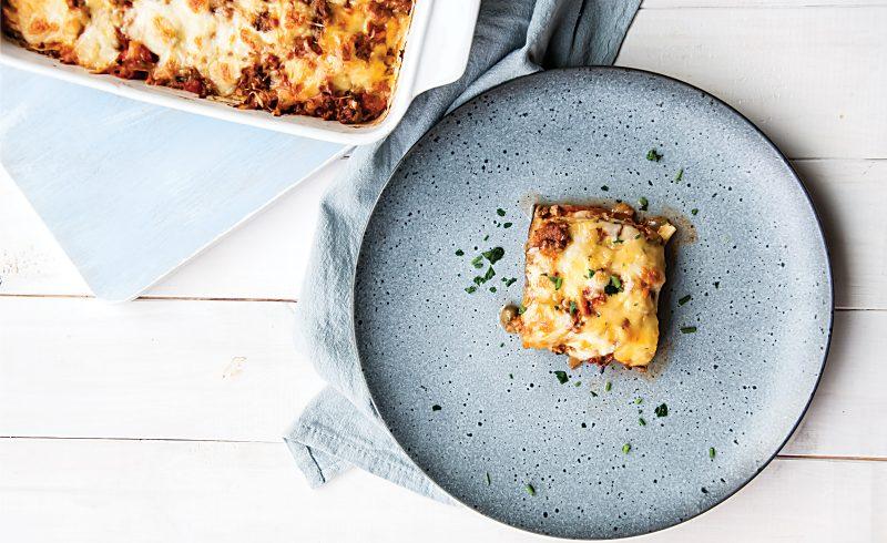 Bezglutenowa Lasagne z Bakłażanem, Cukinią i Pomidorami