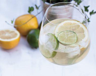 Cytrynowo-limonkowy szprycer czyli najprostszy drink na bazie białego wina