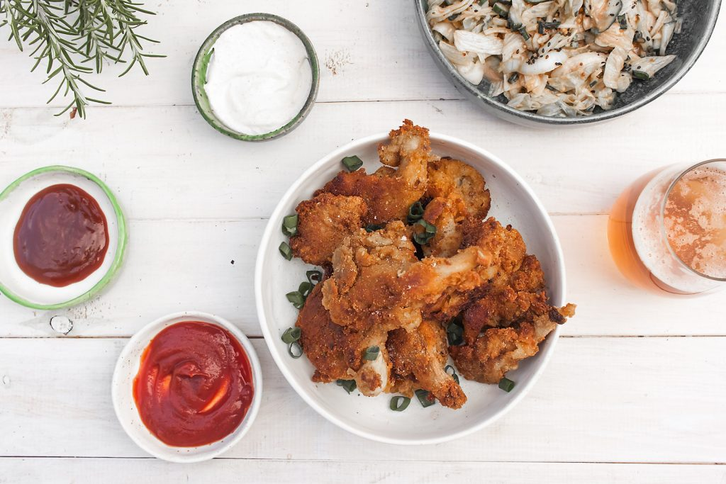 wegańskie kurczaki z boczniaków