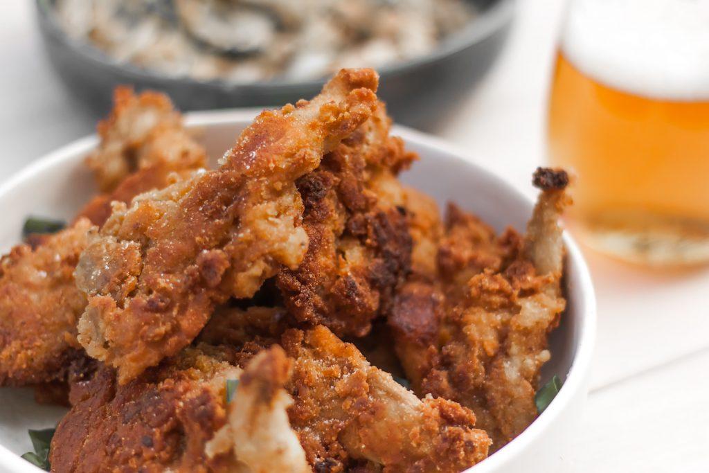 wegańskie kurczaki z boczniaków a panierce-jak z kfc