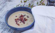 zupa krem z pieczonej pietruszki z boczkiem