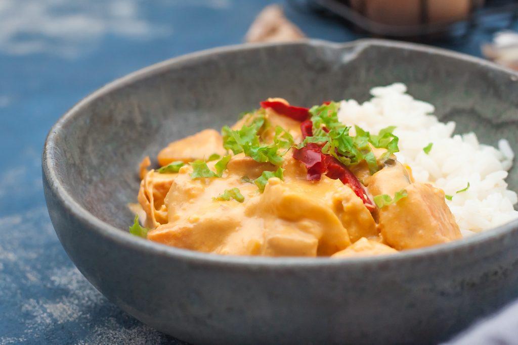 tajskie czerwone curry z dynia i tofu