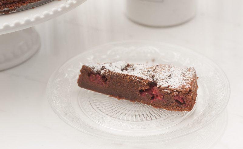 proste brownie z malinami I czekolada