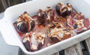 figi z kozim serem, miodem i migdałami